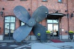 Café de remblai de Helsinki en Finlande photographie stock