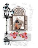 Café de rue illustration stock