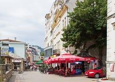 Café de rue de Mostar Images libres de droits
