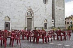 Café de rue en Cividale del Friuli image stock