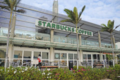 Café de Starbucks em Hong Kong Foto de Stock Royalty Free