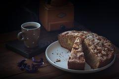 Café de tarte aux pommes Images stock