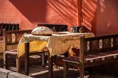 Café de trottoir Photos stock