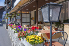 Café de trottoir photo stock