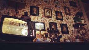 Café de vintage et x27 ; Linville& x27 ; intérieur Image libre de droits