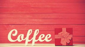 Café de Word avec le cadeau Image libre de droits