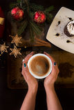 Café del Año Nuevo Imagen de archivo libre de regalías