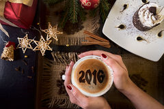 Café del Año Nuevo Imágenes de archivo libres de regalías