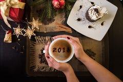 Café del Año Nuevo Fotos de archivo libres de regalías