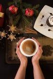 Café del Año Nuevo Foto de archivo libre de regalías