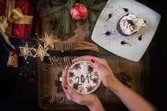 Café del Año Nuevo Foto de archivo