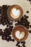 Café del café express de la dimensión de una variable del corazón Imagen de archivo