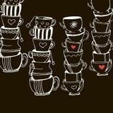 Café del café express del icono de la taza de café de la taza Fotografía de archivo libre de regalías