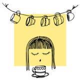 Café del café express del icono de la taza de café de la taza Imagen de archivo