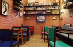 Café del cine en la casa de periodistas Imagenes de archivo