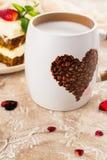 Café del día de tarjetas del día de San Valentín Imágenes de archivo libres de regalías