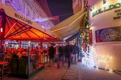 Café del dogo en Zagreb Imagen de archivo