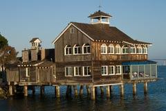 Café del embarcadero de San Diego Imagen de archivo libre de regalías