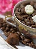 Café del extremo del chocolate imágenes de archivo libres de regalías
