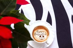 Café del feliz Halloween imagen de archivo libre de regalías