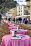 Café del helado en el lago Garda, Italia imagen de archivo