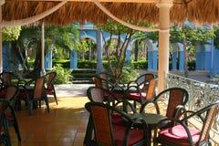 Café del hotel del aire abierto Foto de archivo