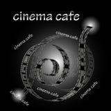 Café del inema del  de Ñ Imagen de archivo libre de regalías