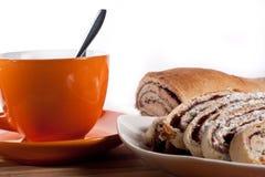Café del ingenio del milhojas Imagen de archivo