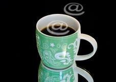 Café del Internet Fotografía de archivo libre de regalías