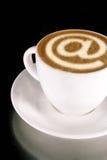 Café del Internet Fotografía de archivo