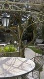 Café del jardín. Fotos de archivo