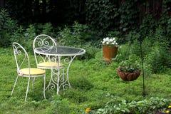 Café del jardín Foto de archivo libre de regalías