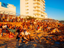 Café Del Mar, Ibiza imagem de stock