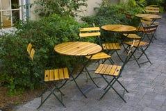 Café del patio fotografía de archivo libre de regalías