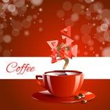 Café del rojo del coffe del café express Fotos de archivo