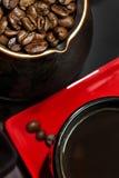 Café del turco con las habas Foto de archivo