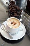 Café delicioso com gelado no café Imagens de Stock