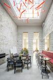 Café in der Dachbodenart Stockfotografie