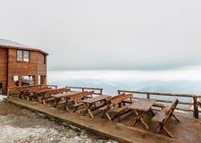 Café der großen Höhe in den mountsins Lizenzfreie Stockbilder