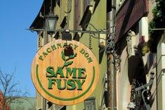 Café in der Stadt von Prag Lizenzfreies Stockfoto