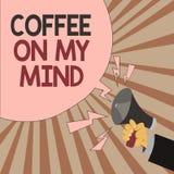 Café des textes d'écriture de Word sur mon esprit Concept d'affaires pour la dépendance au café Starbucks pensant au breaktime illustration libre de droits