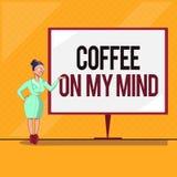 Café des textes d'écriture sur mon esprit Dépendance de signification de concept au café Starbucks pensant au breaktime illustration libre de droits