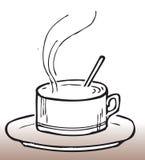 Café desenhado mão Fotos de Stock Royalty Free