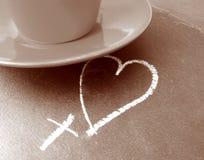 Café do amor Foto de Stock