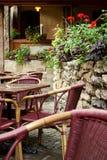 Café do ar aberto Lviv ucrânia Fotografia de Stock