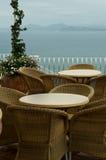 Café do beira-mar na manhã Imagem de Stock