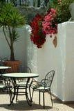 Café do beira-mar na manhã Fotografia de Stock Royalty Free
