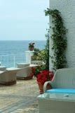Café do beira-mar na manhã Imagem de Stock Royalty Free