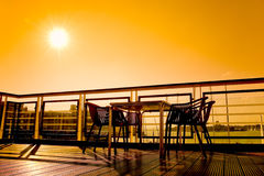 Café do beira-rio Imagem de Stock Royalty Free
