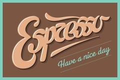Café do cartaz com a mão tirada rotulando o café ilustração stock